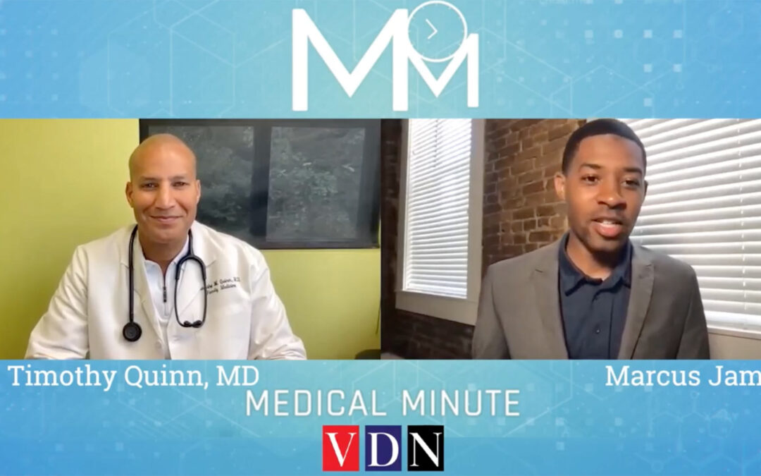 """""""If you have symptoms, it may be too late.""""— Dr. Timothy Quinn, Guest of #MarcusJamesOnTv"""